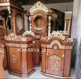 Mimbar podium furniture jati  buat masjid musholla..