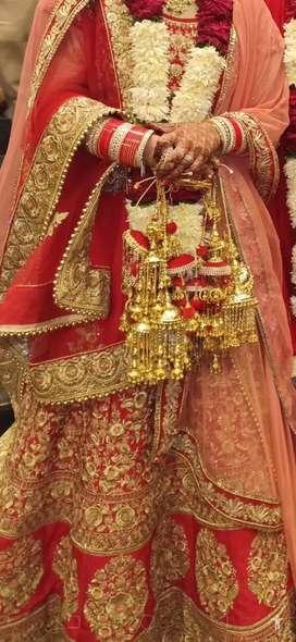 One time used bridal lehnga
