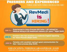 Immediate Joining - US Voice and Non Voice - Revmedi US Healthcare