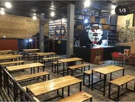 Meja warkop caffe ukuran bisa panjang seperti hiace atau bisa pendek