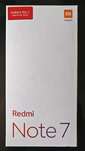 New Redmi Note 7 seal pack