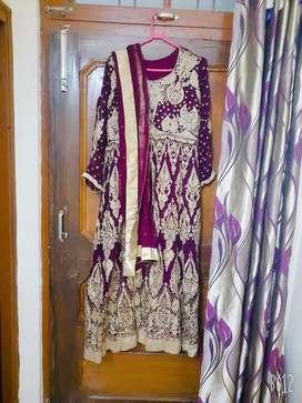 Purple dress with skirt