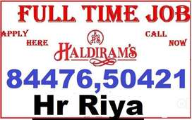 Hiring haldiram company job full time apply in helper store keeper igy