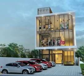 Construction started for a commercial building at Kallambalam town.