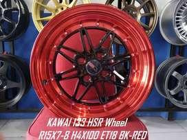 Velg Mobil Ring 15 HSR Kawai Hole 4X100 Agya Datsun Sigra Brio Etios