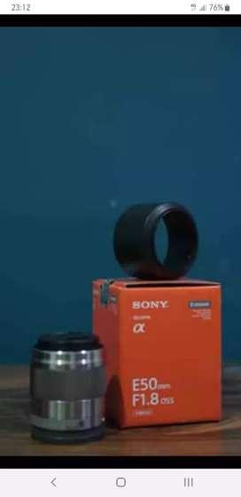 Lensa Fix Sony E50mm f1.8 ss e-mount