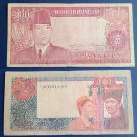Uang kuno 100 rupiah sukarno
