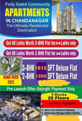 Clear title HMDA approved flats for sale at Chandanagar