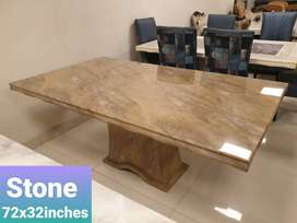 Brand New Imported Marble Dining Table with Marble Base.