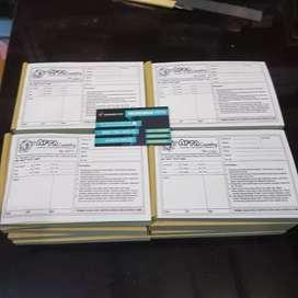 Menerima cetak faktur nota berbagai usaha