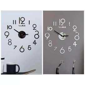jam dinding angka 3D modern minimalis 30-50 cm simpel dan praktis