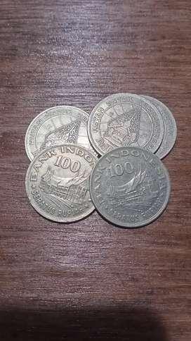 Uang logam koin 100,- emisi 1978