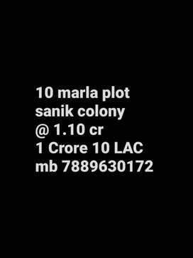 10 marla plot sanik colony