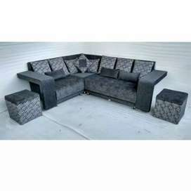 L shape sofa decent designs and fabric