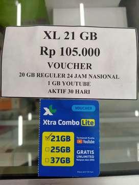 VOUCHER DATA XL 21GB