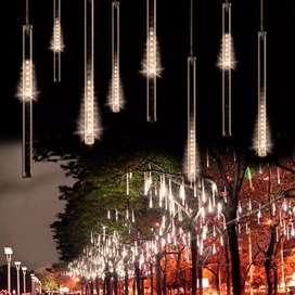 LAMPU DEKORASI METEOR RAIN dengan 30 led 3 meter 8 watt
