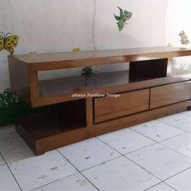 Meja TV Minimalis, Bufet TV, Rak TV Kayu Jati mpb13381