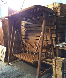 Ayunan kayu jati unik jepara
