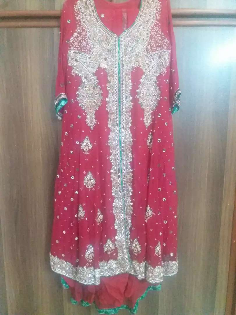 Bridal lehnga with gown shirt 0