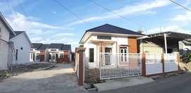 rumah type 55 harga Rp. 450 juta jual cepat lengkap dengan pagar rumah