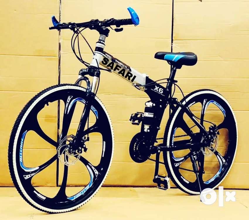 B.M New Shimano 21 gears folding biycle