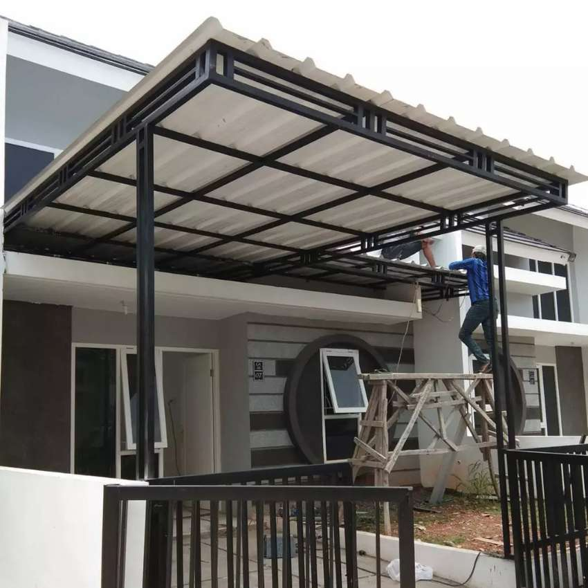 Kanopi minimalis untuk teras rumah carport dan toko