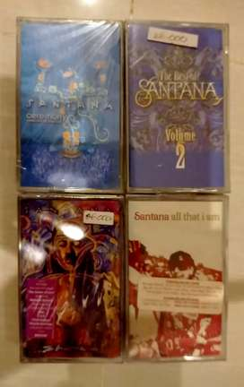 kaset pita ori segel paket 4 Album SANTANA : KONDISI NOS  SEGEL,