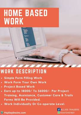 Home Based Work Simple data Entry Work