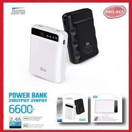 Power Bank Ori Jaspan Powerbank 6600mAh Real Kabel Micro USB & Type C