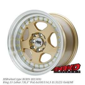 Burn Gold R15 - HSRwheel Makassar Velg Mobil Racing Import