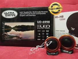 PAKET DOUBLE DIN ULTRA DRIVE +TWEETER HIFINE PREMIUM