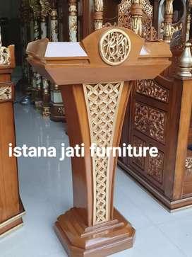Mimbar podium motif ukir bunga ready stock Free ongkir