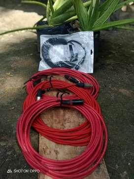 Kabel XLR 2nd dan Baru panjang 10 m Normal Jaya bisa untuk Soundcard