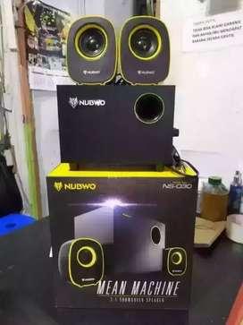 Grtis antar Speaker spiker multimedia NUBWO NS-030 2.1 aux bass baru