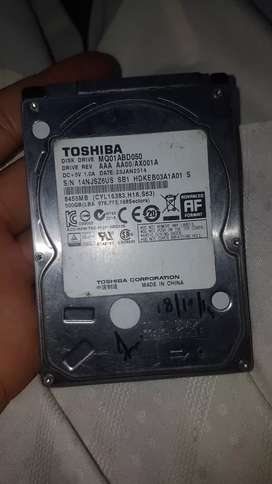 500 gb laptop hard disk with case for sell