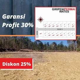 Inves Tanah Kavling Sudah Pecah Sekitar Jogja Barat, DISKON 25%
