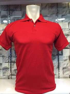 Kaos berkerah warna merah harga grosir