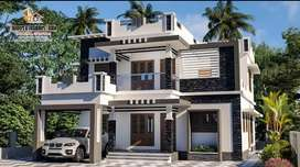 11 cent land with 2200 sqft new house at kanjoor,near airport,aluva