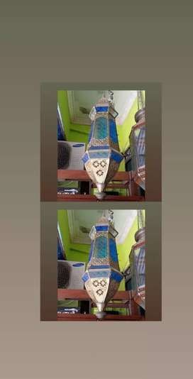 Kembar Lampu Gantung hias Storlop warna biru antik termurah