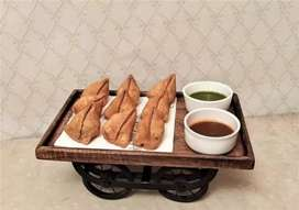 Snacks Serving Wooden Platter