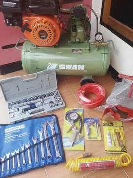 Paket bengkel fullset dengan alat2 nya baru dan siap krim smpe tujuan
