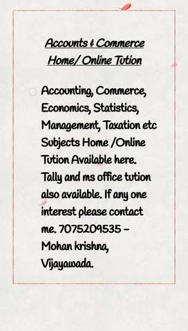 Accounts and commerce Tution Available