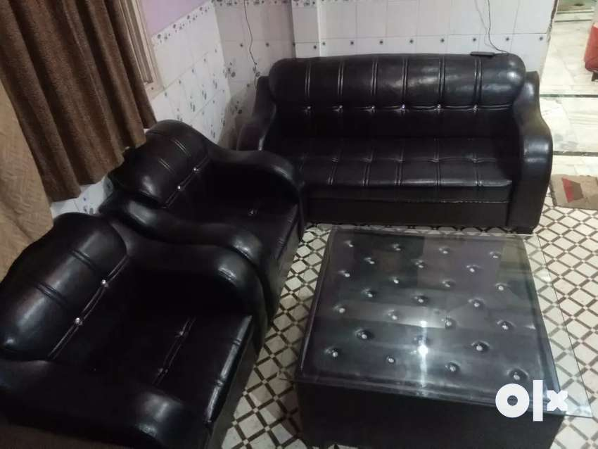 Six sitter sofa and dinig table 0