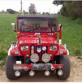 Fully loaded modified jeep