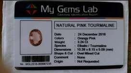 Batu Pink tourmaline