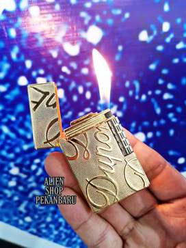 Korek api gas ST.DUPONT gold isi ulang