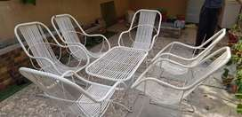 Lawn Metal chairs and table
