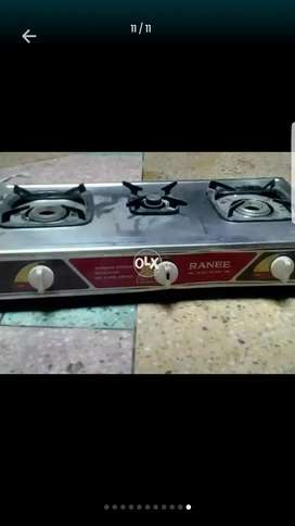 Rannee automatic gas stove 3burner Korean made ha.