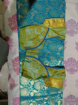 Semi silk saree with blouse