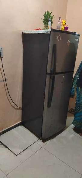 Double door refrigerator.